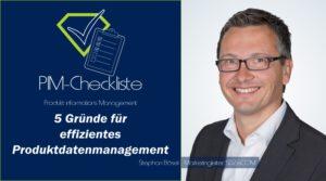 PIM-Checkliste von SDZeCOM: 5 Gründe für effizientes Produktdatenmanagement